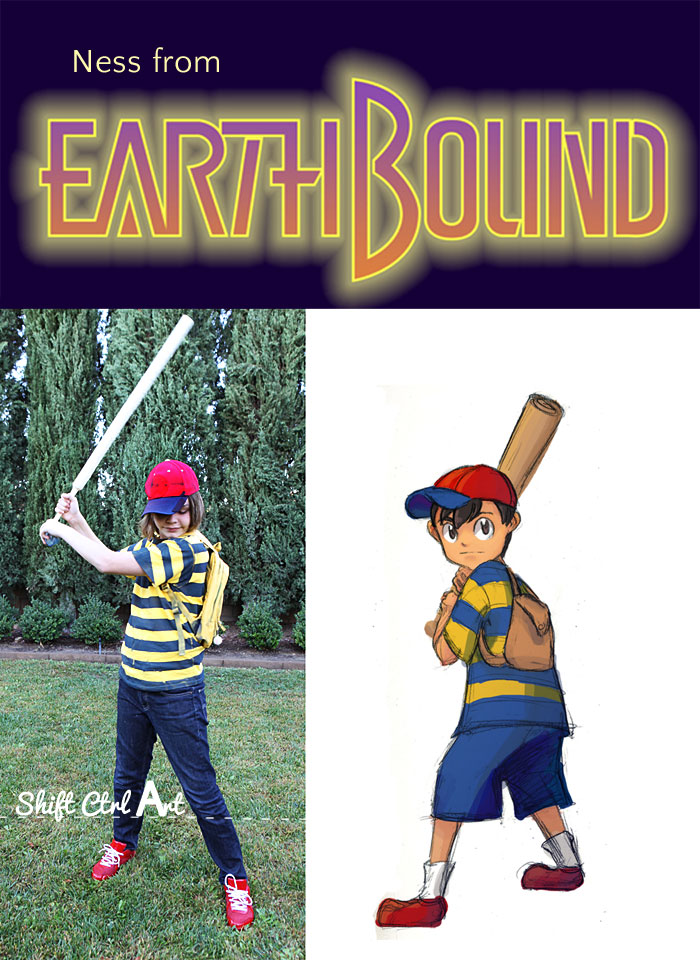 ness from earthbound video game halloween cosutme