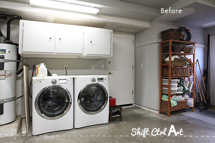 Laundry Nook In Garage Make Over Before And Demo