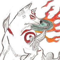 Amaterasu - son's drawing today