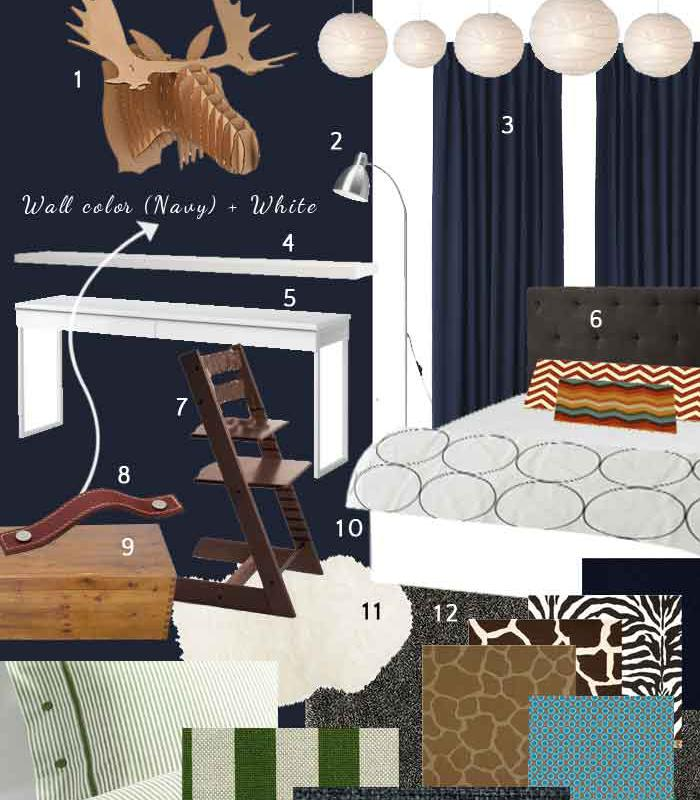 B's tween room mood board