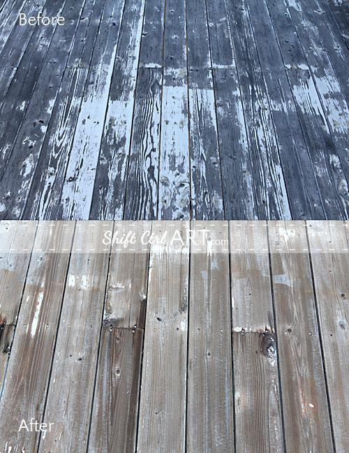 Power washing the deck and patio
