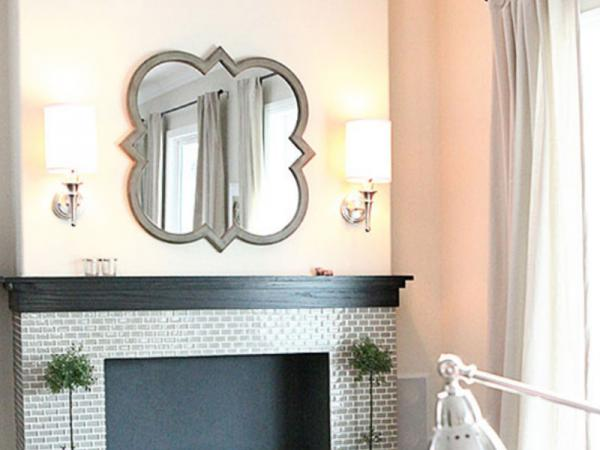 DIY picture hard ware: Quatrefoil mirror on the side