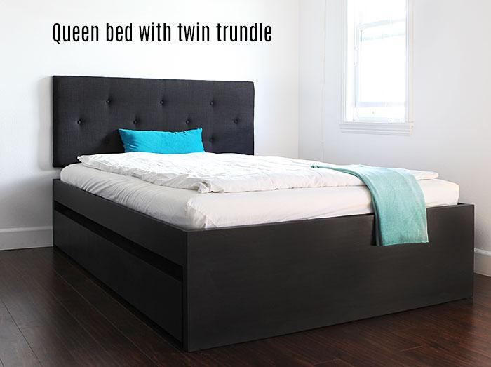 How To Build A Queen Bed With Twin Trundle