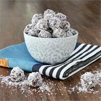 Chocolate Coconut Oatmeal truffles