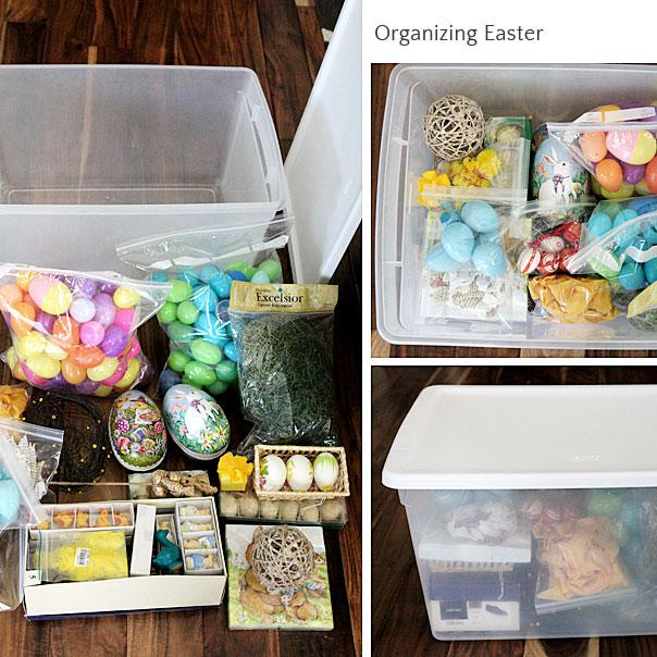 Easter round-up, hunt,  organizing, back to normal
