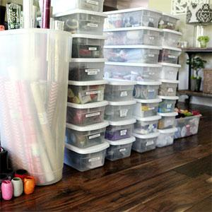 The upstairs hall - how I organize my craft cabinet
