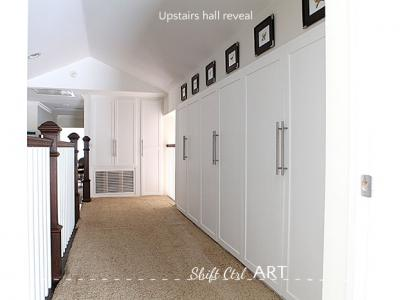 Upstairs hall - the reveal - see how my craft cabinet came together