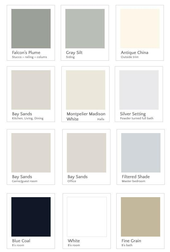 Home tour page all our paint colors and find out which for Colors home page