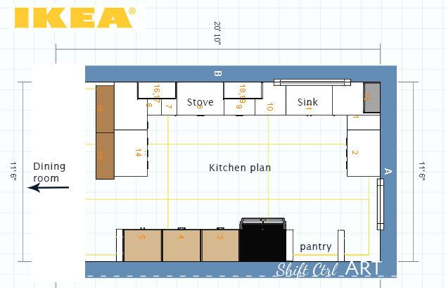 Ikea kitchen plans to get upper cabinets or not and a for Kitchen planning tool