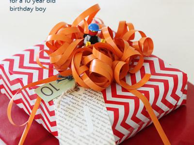 Birthday gift wrap idea for a tween boy