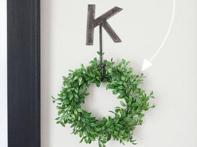 How to make a forever wreath in 10 minutes - adding a circle element to my gallery wall
