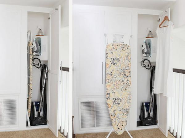 Tricked out ironing closet - how to maximize a small space