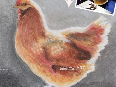 How I drew the Buff Orpinton for the give-away