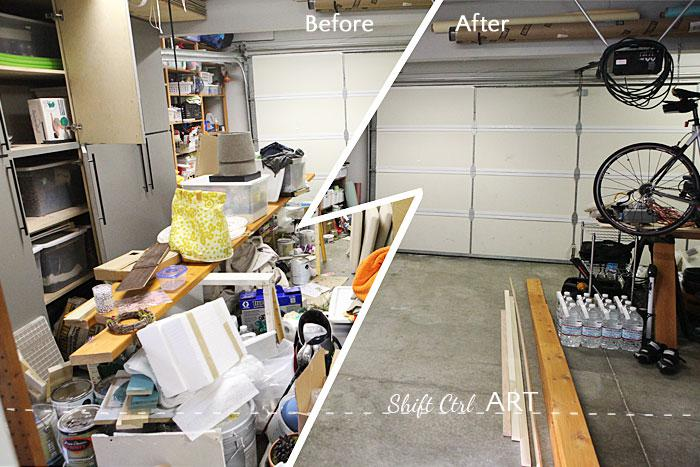 A clean garage: How to tackle a monster mess!