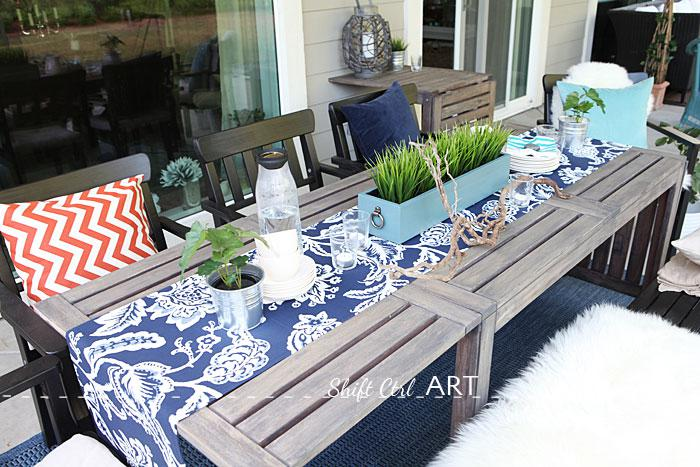 Outdoor patio dining area - the reveal