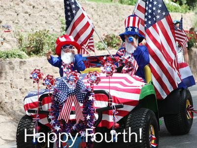 Happy fourth of July - a parade