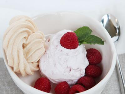 Raspberry ice cream -1 of 3 easy desserts to make with my vanilla egg base