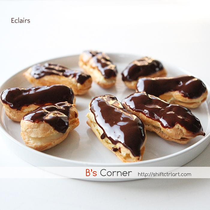 Chocolate Eclairs from scratch - June cooking fridays