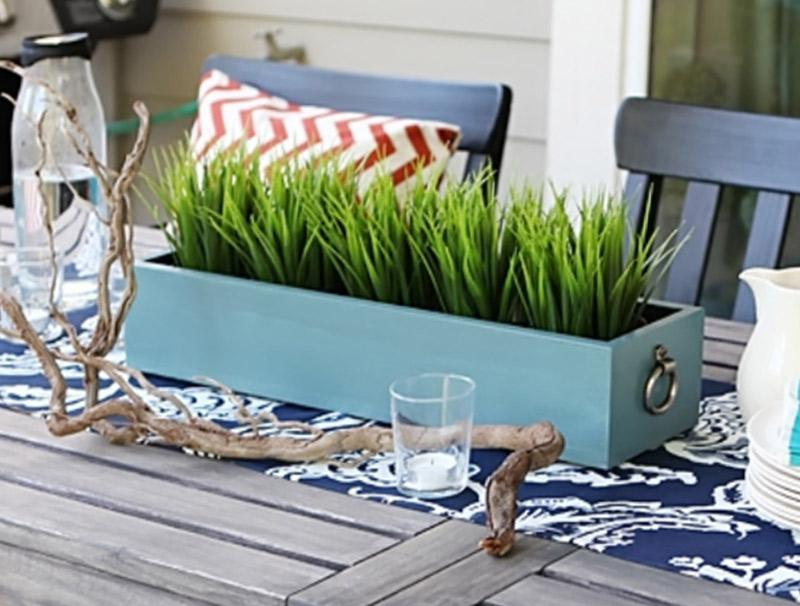 Build a planter box for your outdoor table