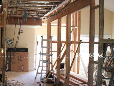 Entry hall - during demo and new construction