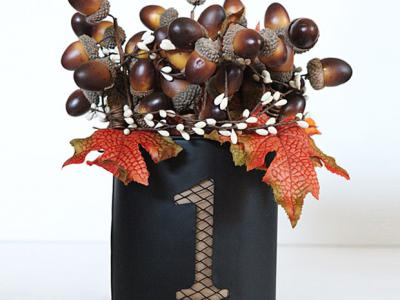 Acorn tin - fall craft tutorial