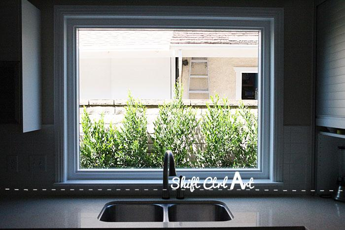 Our new kitchen window - no more bathroom glass