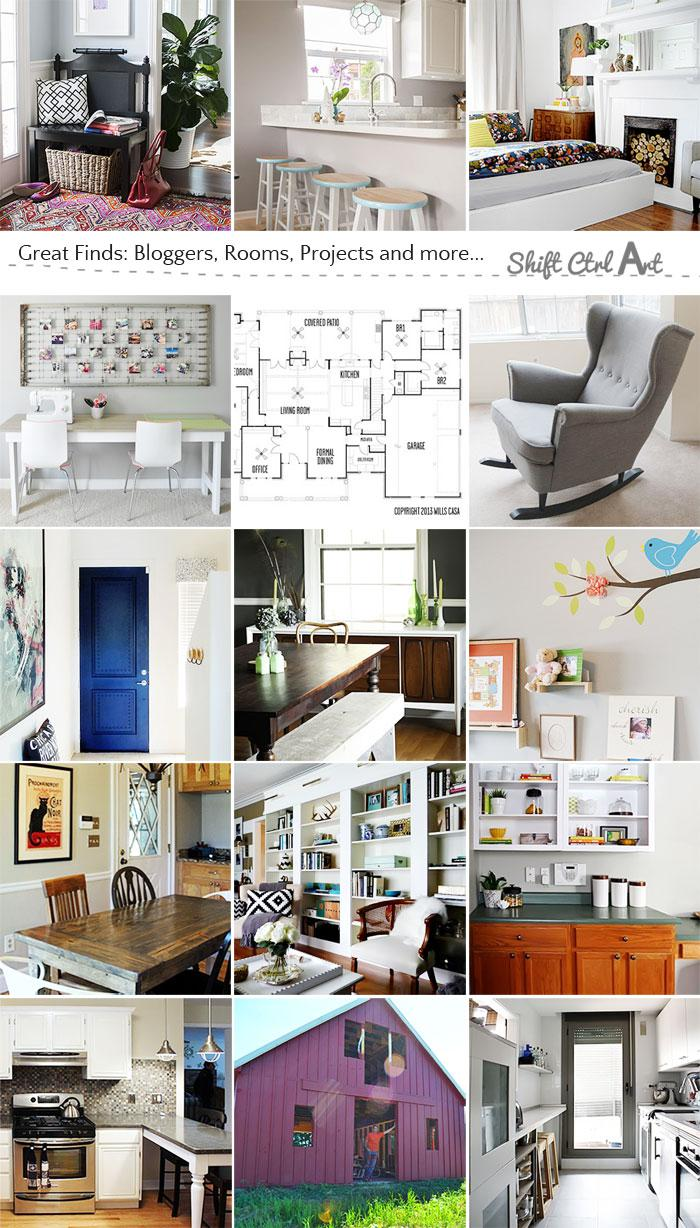 Great Finds - bloggers, projects and rooms oh my.