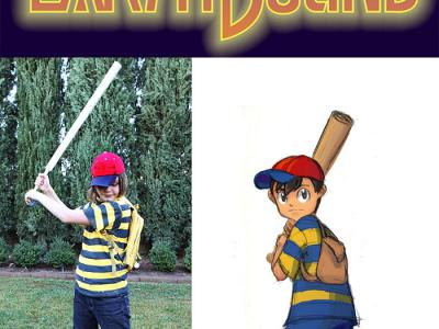 Halloween costume - Ness from Earthbound - thrifted and spray painted