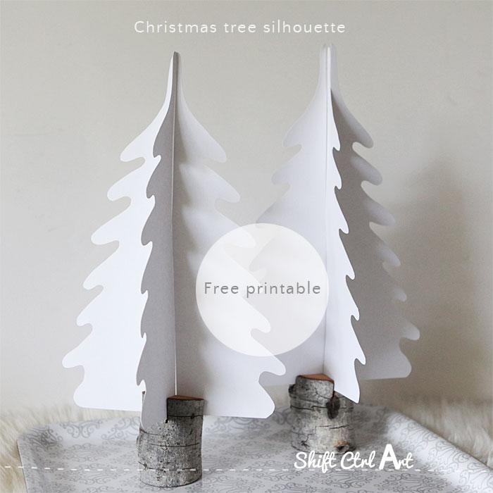 Dare To Entertain Silhouette Christmas Trees In DIY Branch Holders