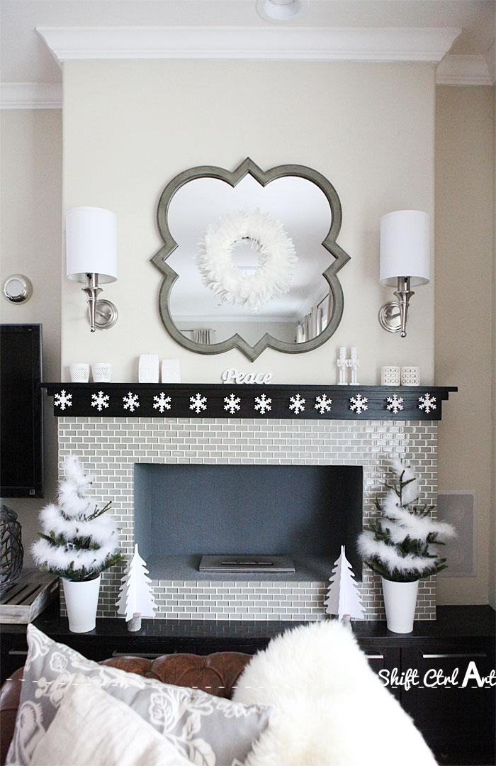 Dare to deck the halls: my Christmas mantel - snowflake garland