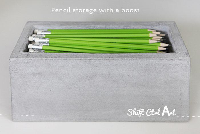 Pencil storage with a boost