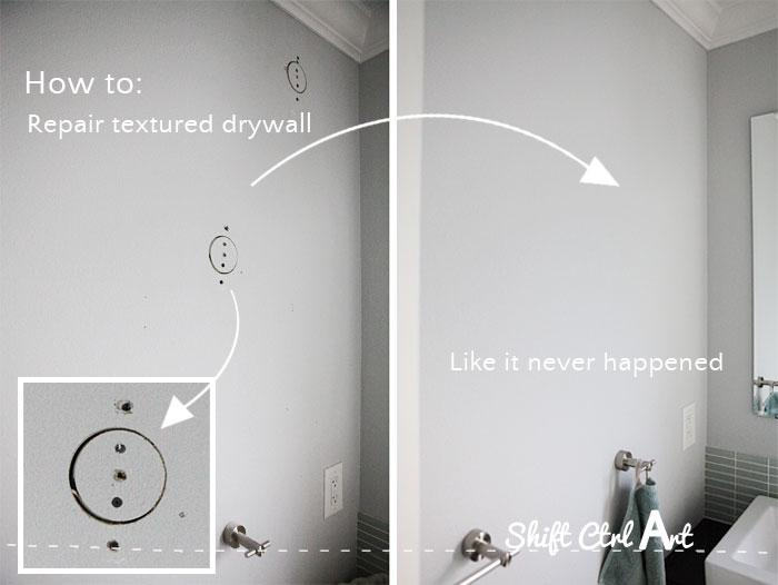 How to: repair textured drywall like it never happened