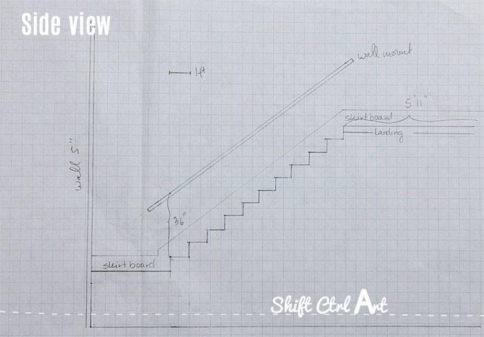 Our staircase remodel - drawings, material and finishing