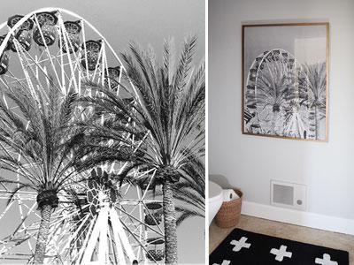 Free Ferris wheel printable and our toilet room reveal