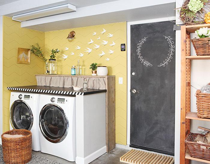 7 diy ideas for a laundry nook in the garage and 3 for Diy 3 car garage