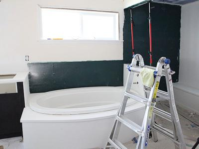 Master bath update - marble installation