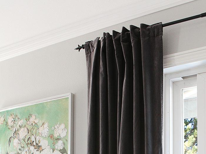 How to: turn a grommet-top curtain into a back tab curtain