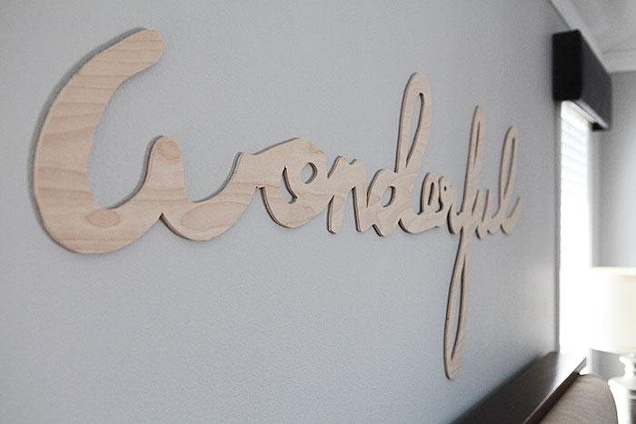 DIY large scale plywood word art