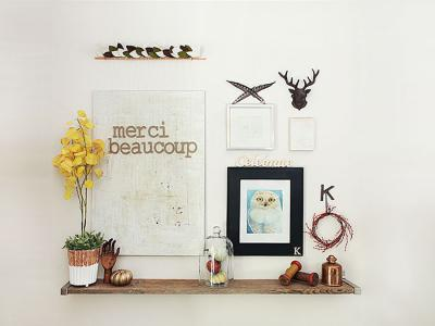 Dare to give thanks - merci beaucoup fall vignette