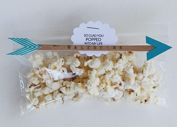 Valentine's - organic popcorn with arrow craft