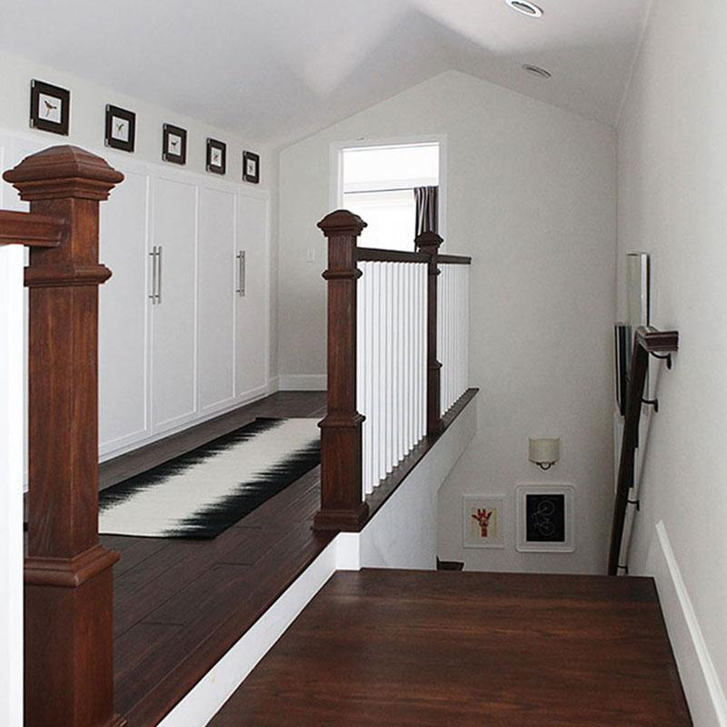Upstairs hallway reveal