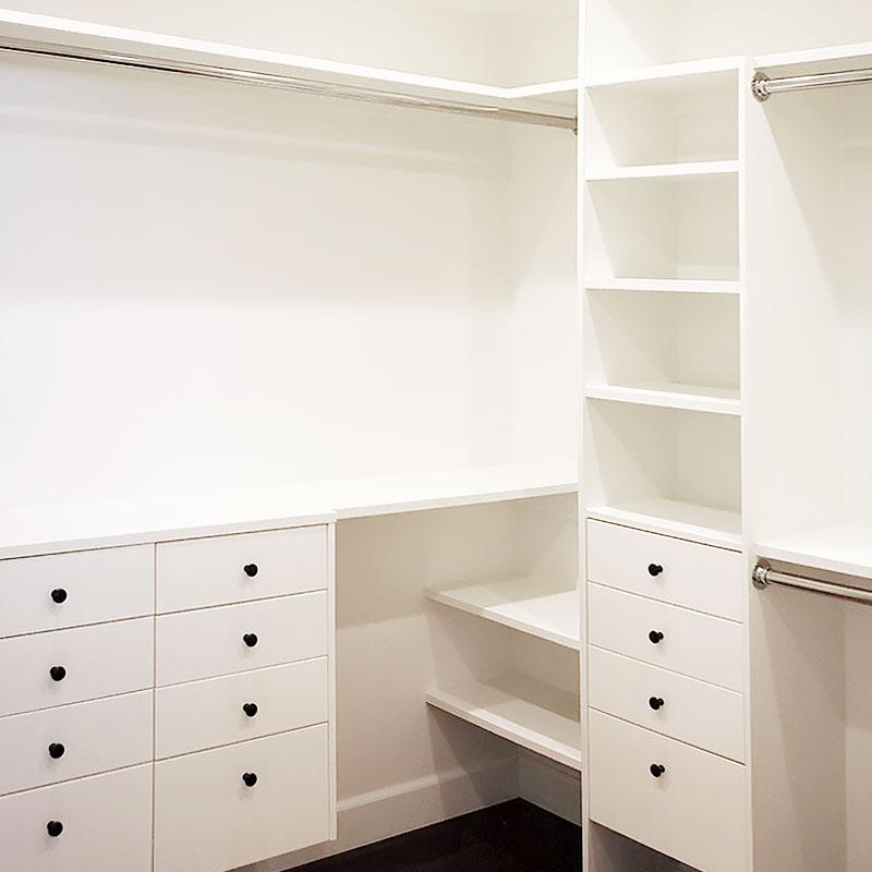 Master walk-in closet - the reveal