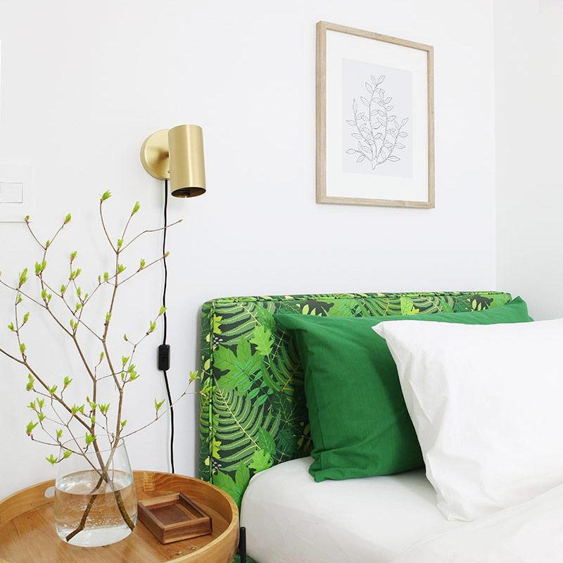 Green guest room reveal - with 11 DIY projects